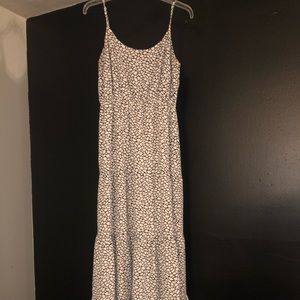 Michael Kora black and off white maxi dress